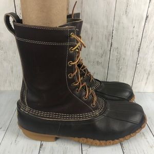 LL Bean Brown Leather Duck Boots